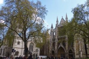 Abadía de Westminster y a su lado la Iglesia de Santa Margarita