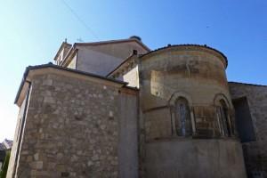 Ábside románico de la Iglesia de Santiago en Turégano