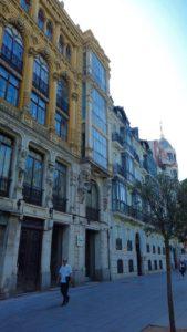 Edificios en la Acera de Recoletos