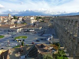 Vistas del Acueducto de Segovia desde el Póstigo del Consuelo