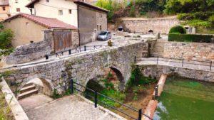 Restos del acueducto romano junto a la Fuente Buena