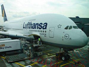 Airbus 380 de Lufthansa con destino a Tokio