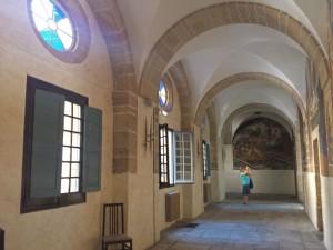 Pasillos del Claustro de San Nicolás el Real en Villafranca del Bierzo