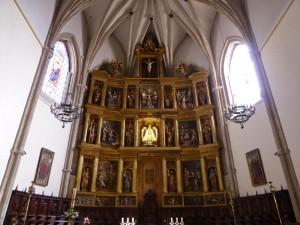 Retablo Mayor de la Catedral de Ciudad Real, en el centro la imagen de la Virgen del Prado