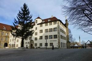 Edificio Alte Kanzlei en la Plaza Schillerplatz de Stuttgart
