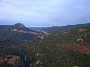 Vistas del Cañón del Tajo desde el Mirador de Zaorejas