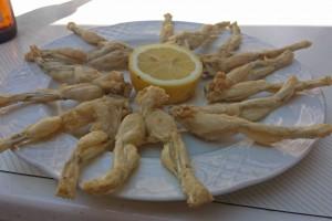 Ancas de rana, uno de los platos típicos de la gastronomía de Molina de Aragón