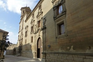 Fachada principal de la Antigua Universidad de Baeza