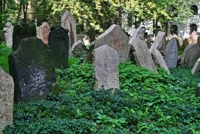 Antiguo Cementerio Judío de Josefov, foma parte del Museo Judío de Praga