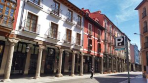 Acceso al aparcamiento de la Plaza Mayor de Valladolid