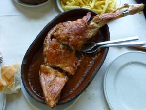 Cordero asado, el plato más típico de la gastronomía de Turégano