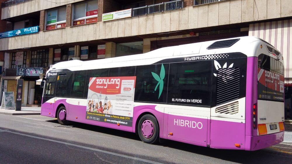 Autobús urbano, forma parte del transporte de Palencia