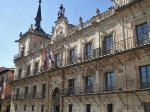Antiguo Consistorio de León en la Plaza Mayor, plazas de León