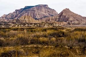 Cerros característicos de las Bardenas Reales de Navarra