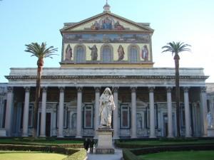 Basílica de San Pablo Extramuros en Roma. Foto de Allie_Caulfield