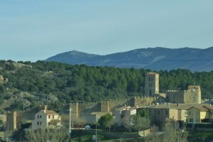 Vistas de Buitrago del Lozoya desde la autovía A-1