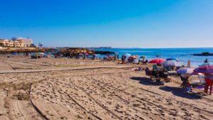 Cala Capitán, primera playa de Cabo Roig
