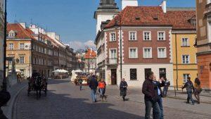 Calles de Varsovia, una de las ciudades más bellas de Polonia