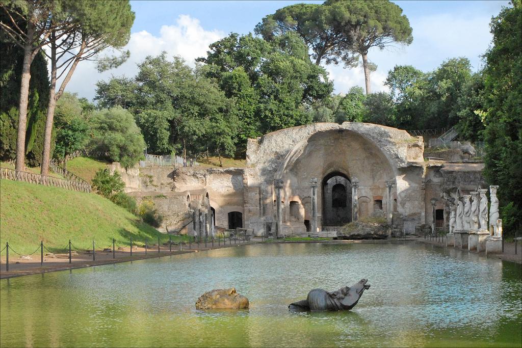 Villa Adriana. Foto de Jean-Pierre Dalbéra