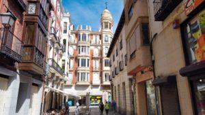 Casa de Flora Germán, uno de los edificios más llamativos de la Calle Mayor de Palencia