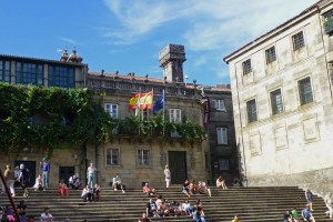 Casa de la Parra en la Plaza de la Quintana, edificios civiles de Santiago de Compostela