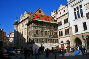 Casa U Minuty en la Plaza de la Ciudad Vieja de Praga
