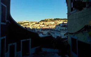 Castillo de San Jorge desde las colinas de Lisboa