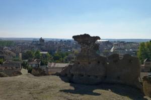 Restos del castro prerromano en los alrededores del Castillo de Turégano