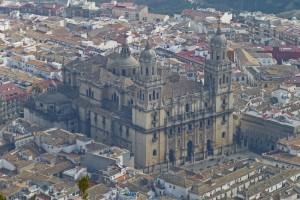 Catedral de Jaén vista desde La Cruz