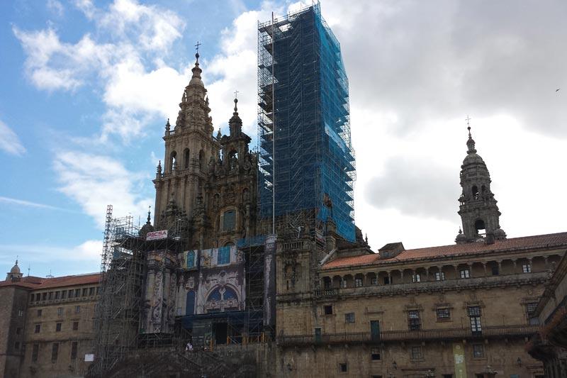 Catedral de Santiago de Compostela en la Plaza del Obradoiro