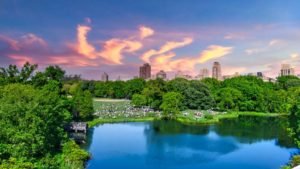Central Park con el skyline de Manhattan al fondo