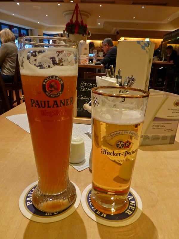 Cerveza Weissbier y Helles, cerveza de Múnich