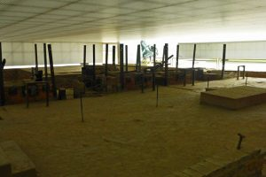 Restos de los hornos crematorios del Campo de Exterminio Sachsenhausen