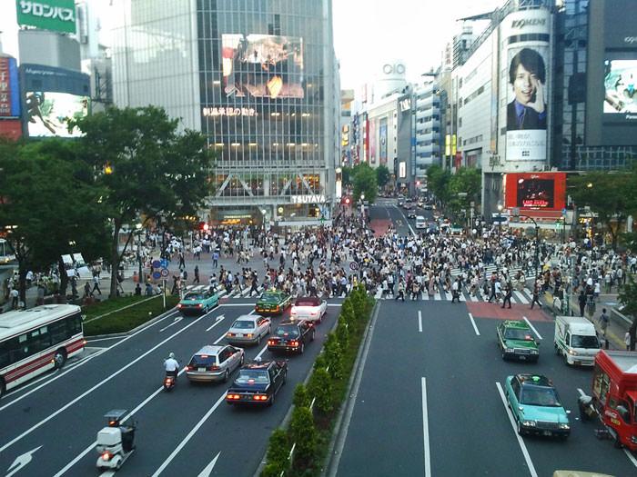 Cruce de Shibuya, el más transitado del mundo