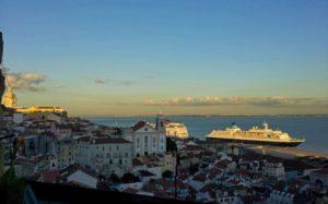 Cruceros atracados en el Puerto de Lisboa