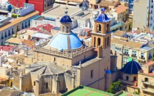 Concatedral de Alicante vista desde el Castillo de Santa Bárbara