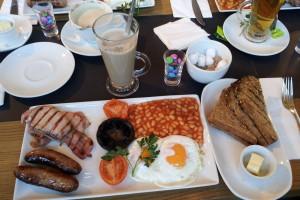 Desayuno inglés completo, qué comer en Londres, gastronomía de Londres