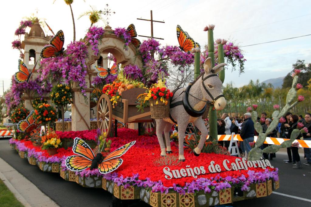 Desfile de las Rosas de Pasadena. Fiestas de Los Ángeles