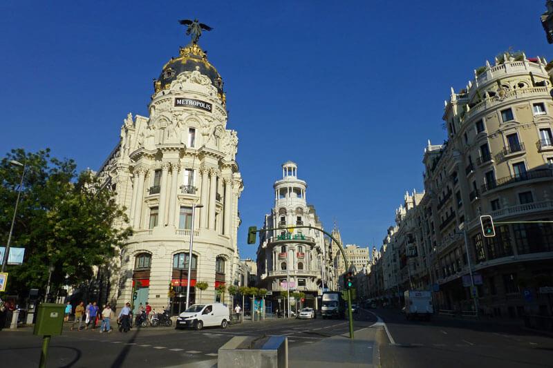 Edificio Metropólis, uno de los más famosos de la Gran Vía de Madrid