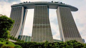 Tres torres hoteleras de Marina Bay Sands