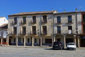 Edificios esgrafiado de la Plaza Mayor de Turégano