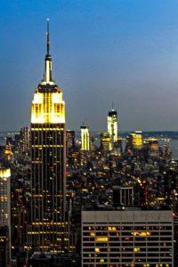 Vista nocturna del Empire State