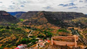 Castillo dominando las vistas del entorno natural de Enguídanos