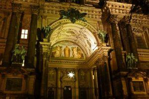 Detalles de la fachada de la Catedral de Berlín