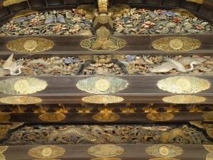 Detalles de la puerta de entrada al Palacio Imperial de Kioto