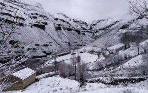 Puerto de las Estacas de Trueba nevado