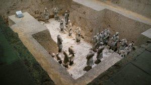 Excavaciones donde se han hallado los Guerreros de Terracota de Xian