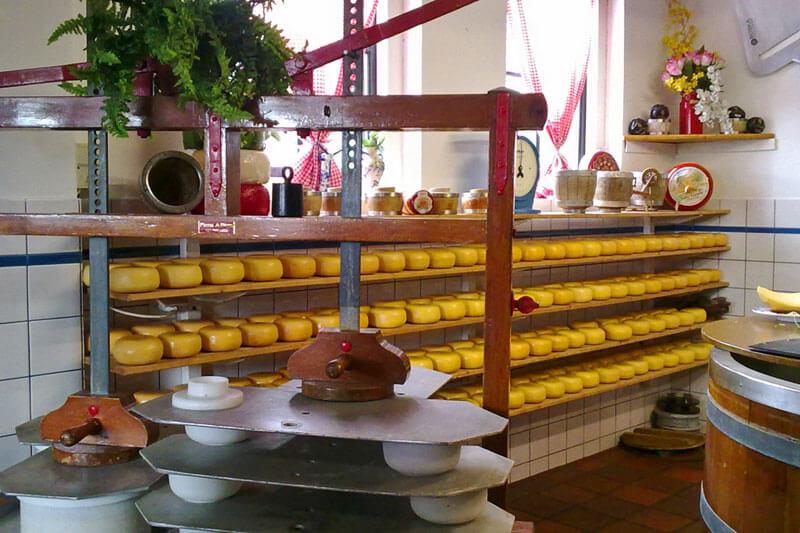 Fábrica de queso Edam, uno de los quesos más famosos de Holanda