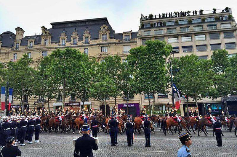 Desfile militar por el Día Nacional de Francia, fiestas de París