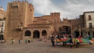 La Plaza Mayor acoge las principales fiestas de Cáceres